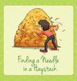 Finding needle in a haystack vector image vector image