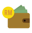 flat design ringgit currency vector image
