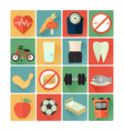 flat icons health vector image