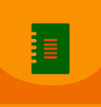 flat style blank with spiral realistic notepad vector image vector image