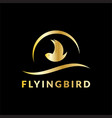 flying bird business logo vector image vector image