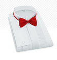 formal male blank folded shirt template vector image