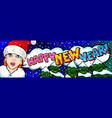 girl in red hat santa claus vector image vector image