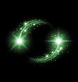 glittering star dust circle of lights green color vector image vector image