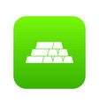 gold bars icon digital green vector image vector image