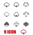 grey cotton icon set vector image vector image