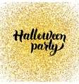 halloween party gold greeting card vector image