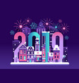 happy 2019 new year card vector image