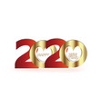 happy 2020 new year gold party celebration vector image vector image