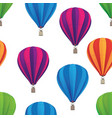 hot air balloon seamless repeating pattern vector image