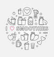 i love smoothies modern outline isolated vector image