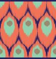 ikat seamless pattern vector image
