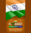 indian independence day vertical flyer vector image