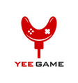 initial game stick logo design y vector image vector image