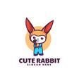 logo rabbit mascot cartoon style vector image