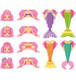 mermaid change clothes puzzle game vector image vector image
