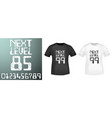 next level numbers stamp and t shirt mockup vector image vector image