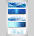 Polygonal Banners Set 2 vector image vector image
