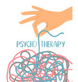 psychotherapy poster on white vector image vector image