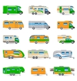 Recreational Vehicle Icons Set vector image