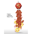 Red firecrackers for chinese new year vector image vector image