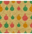 Retro Christmas Bauble Pattern vector image vector image