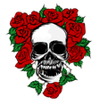 Rose and skull vector image vector image