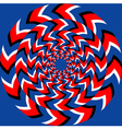 Rotation effect vector image vector image