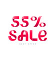 sale 55 percent off vector image