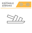 sandal editable stroke line outline icon vector image vector image