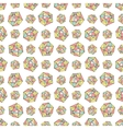 Seamless repeat pattern with polygonal shapes vector image vector image