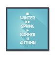 Seasons poster with media icons vector image vector image