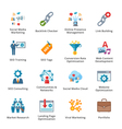 SEO and Internet Marketing Flat Icons - Set 2 vector image