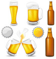 set of beer vector image vector image