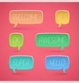 speech bubbles shapes for design promotion vector image