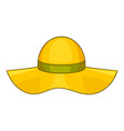 sun hat icon cartoon style vector image