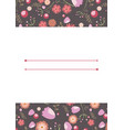 template for postcard invitation wedding party vector image vector image