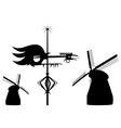 wind vanes vector image