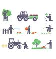 Work in the garden vector image vector image