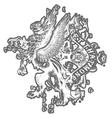 griffin eagle crest emblem vector image