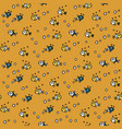 sea seamless pattern with handdrawn doodle vector image