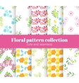 Floral patterns collection vector image