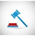 Judgment Verdict Symbol Judge Gavel Icon Template vector image