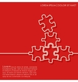 Outline puzzle background vector image