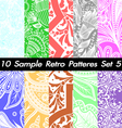 10 Retro Patterns Textures Set 5 vector image vector image