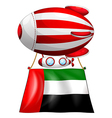 A balloon and the United Arab Emirates flag vector image vector image