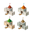 a perspective isometric set view vector image