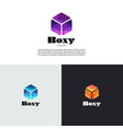 abstract simple cube box logo design template vector image vector image