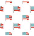 american flag pattern seamless vector image vector image