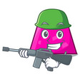 army trapezoid character cartoon style vector image